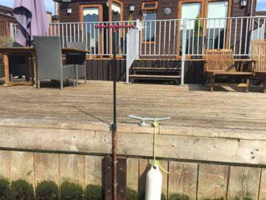 Swallowdale Norfolk Fishing Holiday decking area